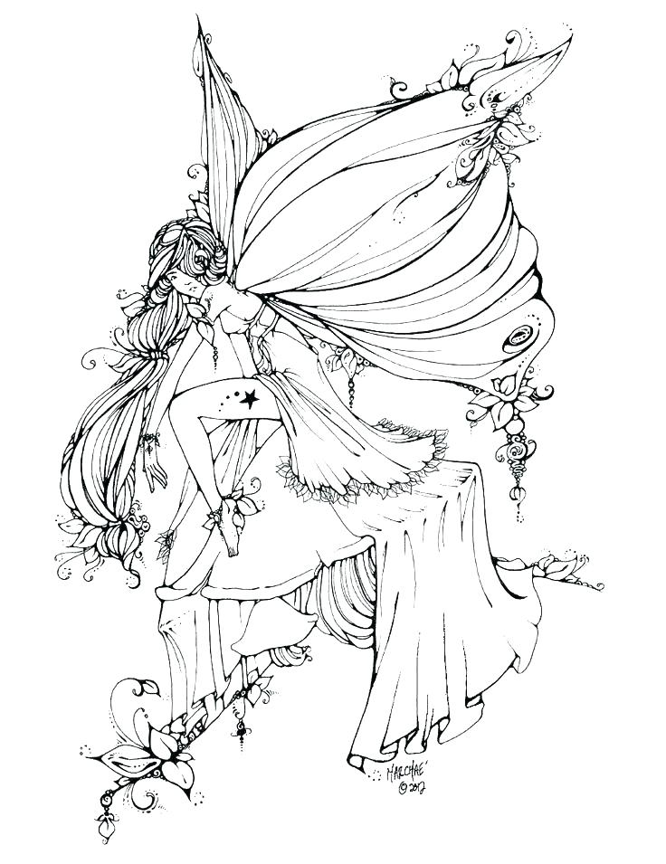 Images of Detailed Fairy Coloring Pages For Adults ...