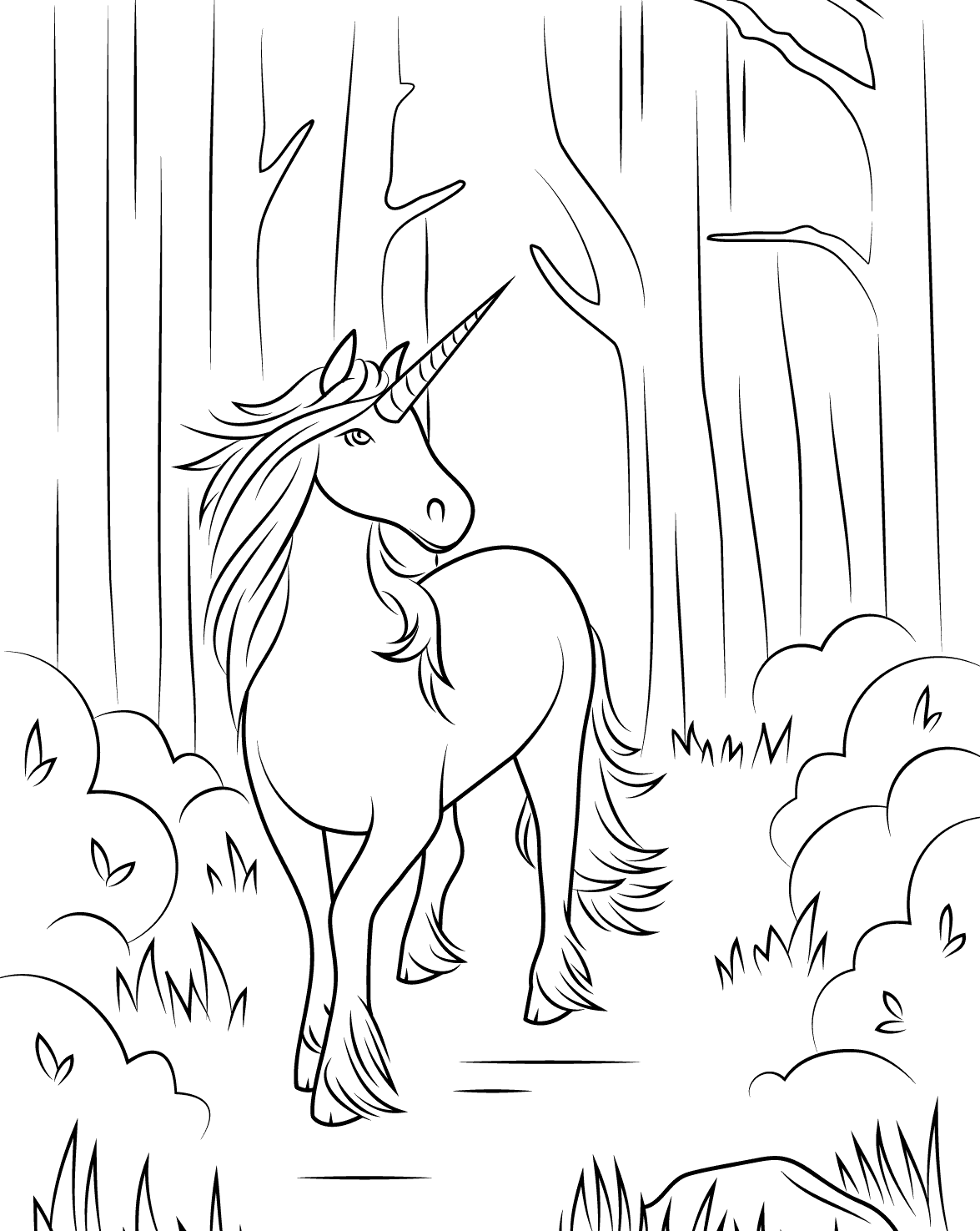 - Unicorn Coloring Pages For Adults - Best Coloring Pages For Kids