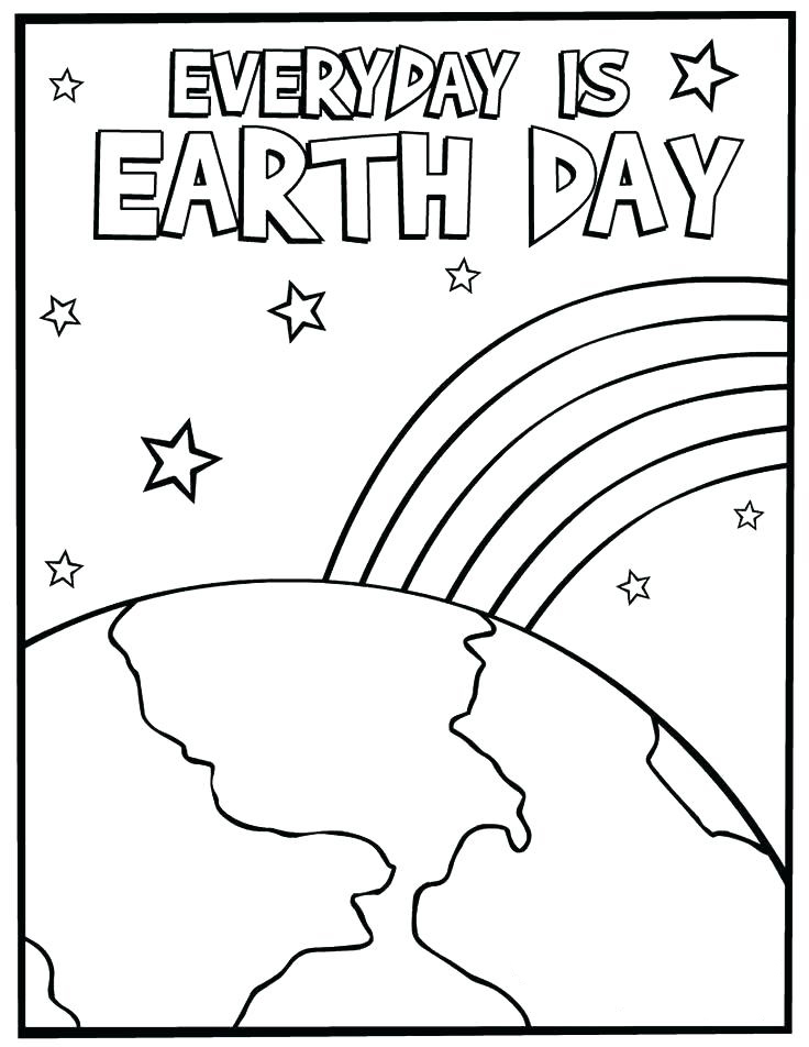 Every Day is Earth Day Coloring Sheet