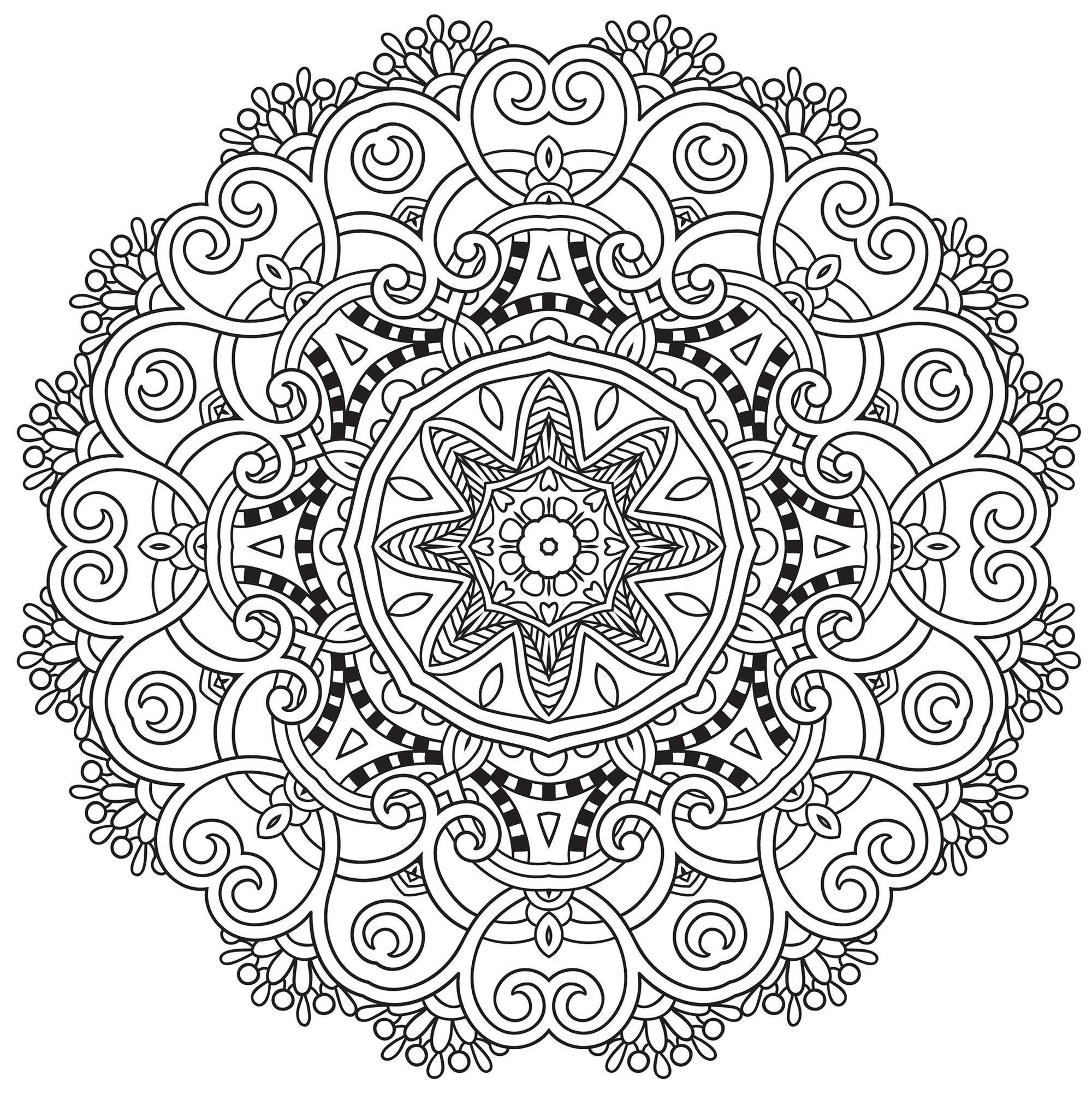 Flower Mandala Coloring Pages Best Coloring Pages For Kids