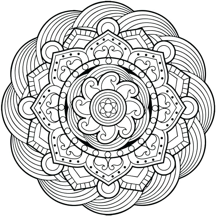Flower Mandala Adult Coloring