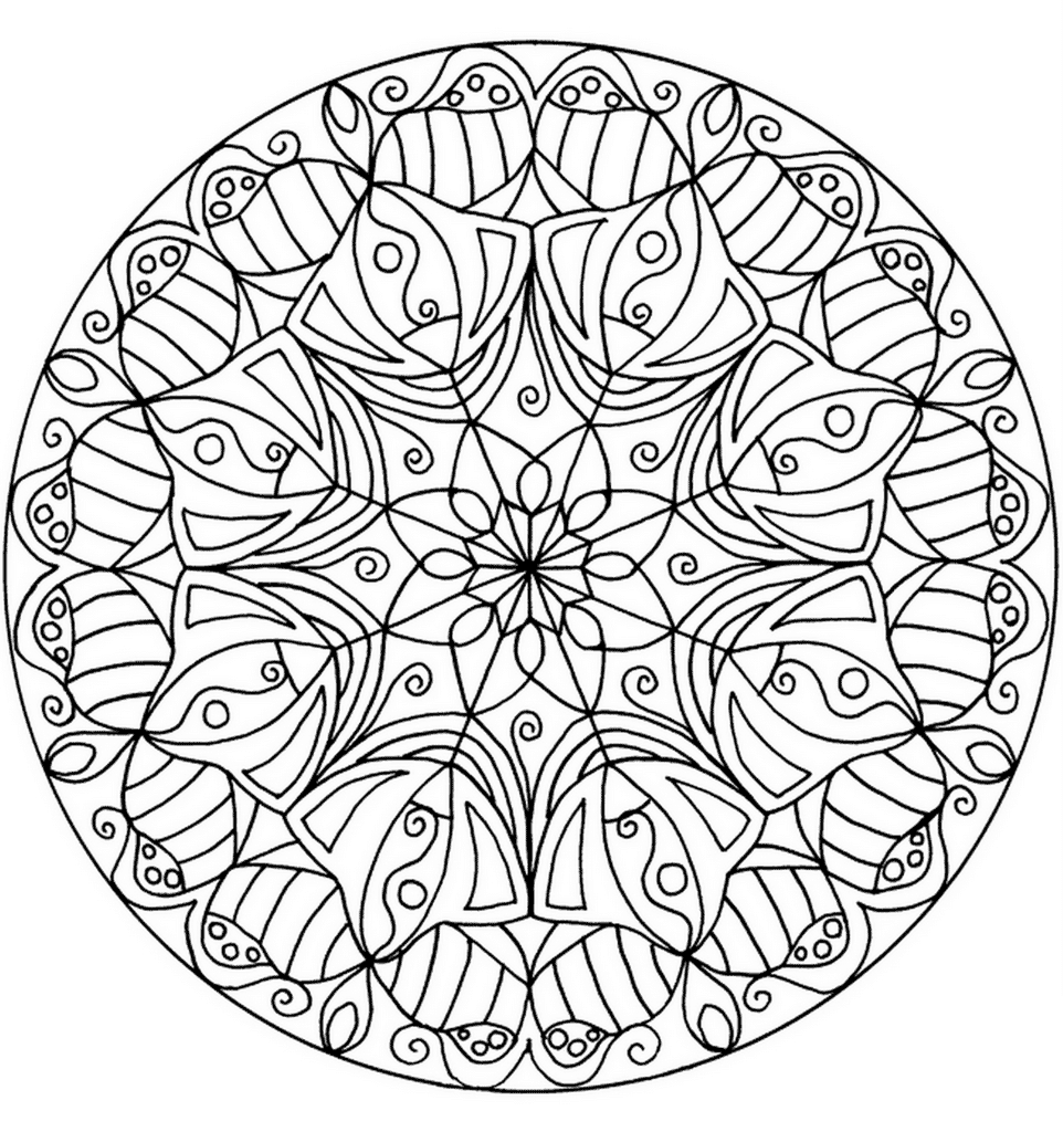 Flower Mandala Coloring Pages - Best Coloring Pages For Kids