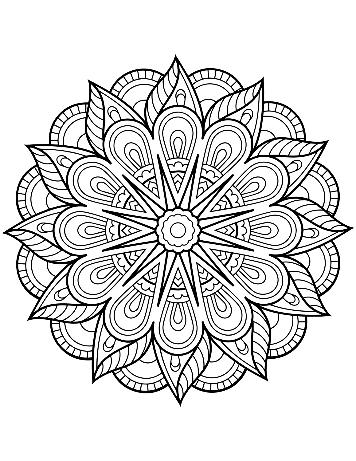 free printable coloring pages mandala designs | Flower Mandala Coloring Pages - Best Coloring Pages For Kids