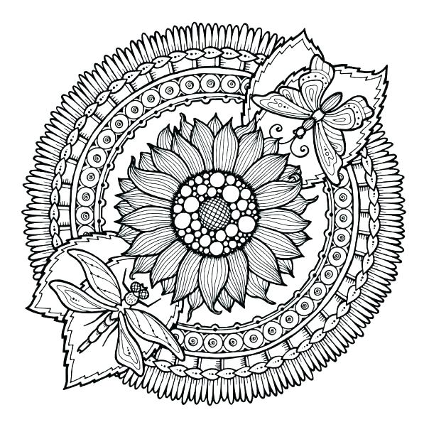 Flower Mandala for Adult Coloring