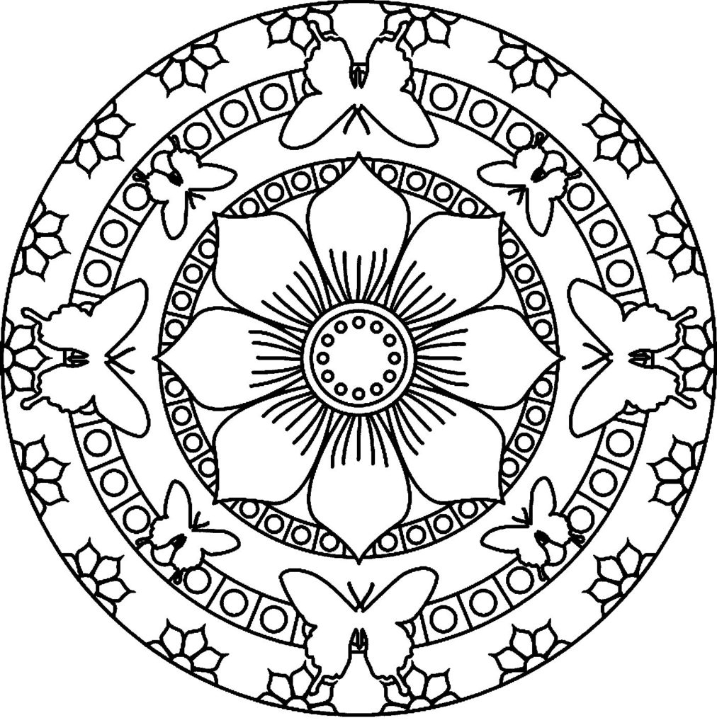 - Flower Mandala Coloring Pages - Best Coloring Pages For Kids