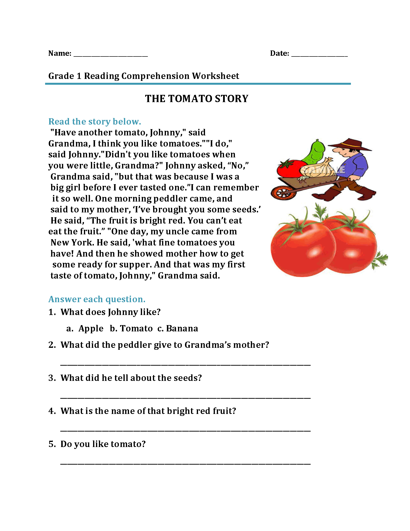 Kindergarten Grade 1 Worksheets