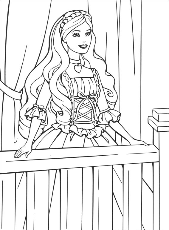 Free Barbie Princess Coloring Pages