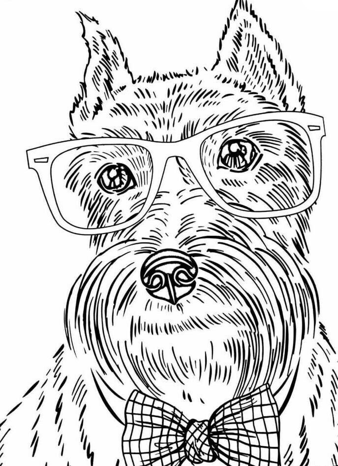 Collection Dog Coloring Pages For Adults Pictures ...