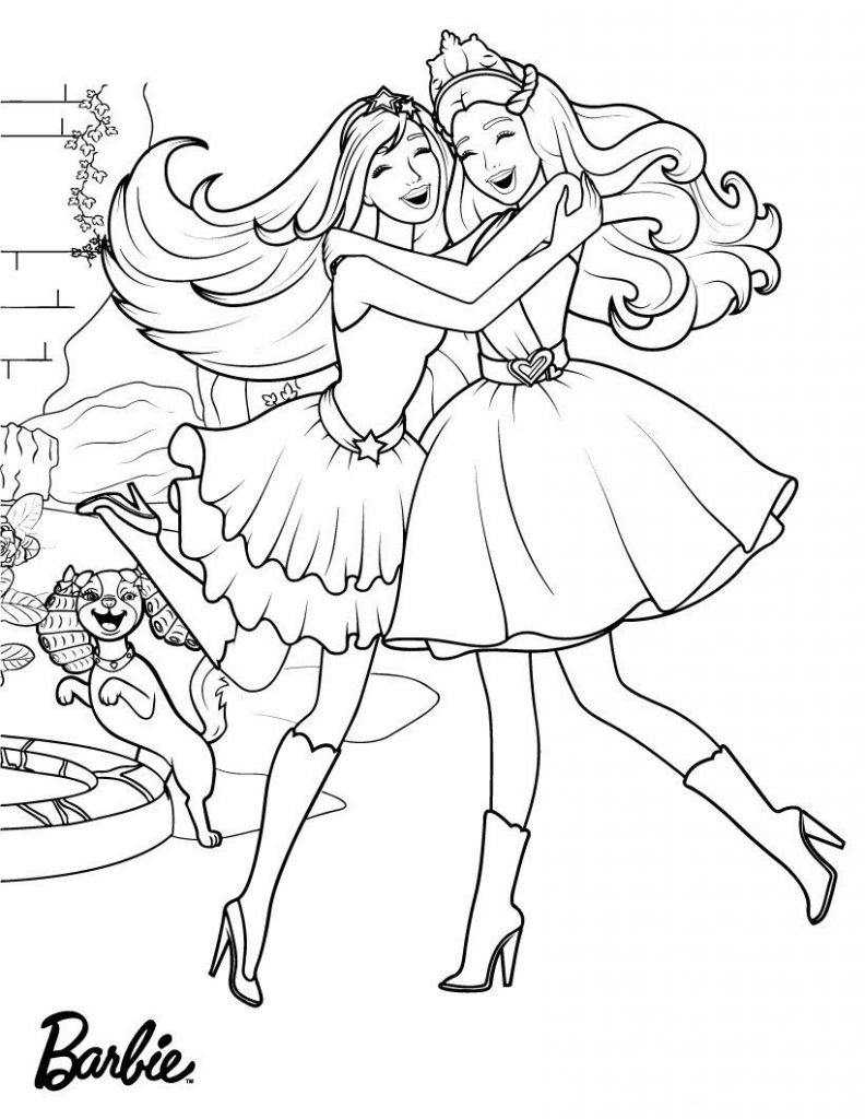 Happy Barbie Princess Coloring Pages