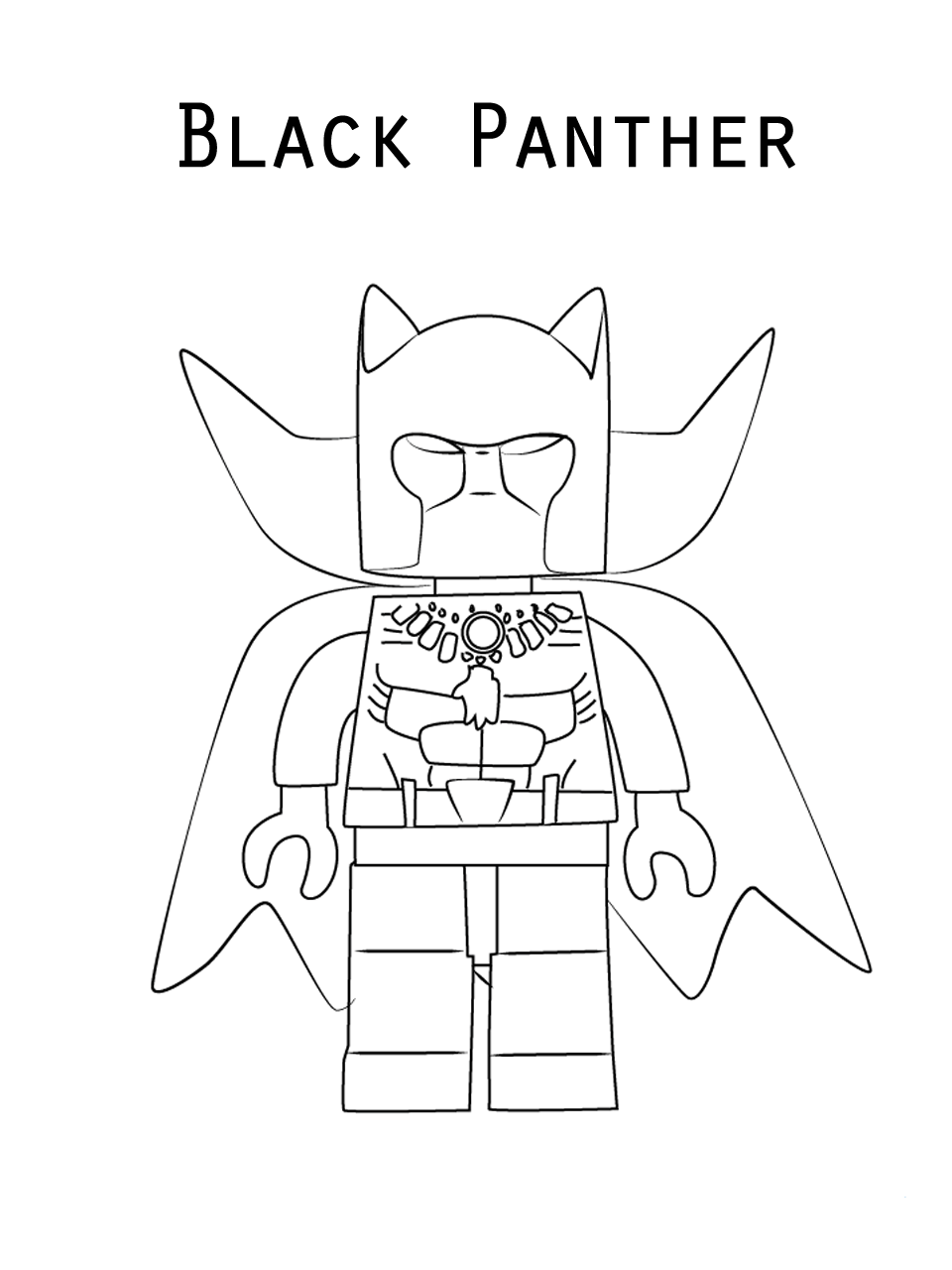 Black Panther Coloring Pages