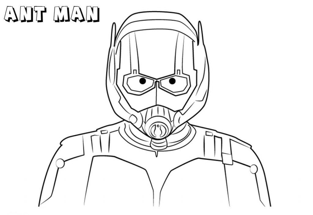 Marvel Ant Man Coloring Page