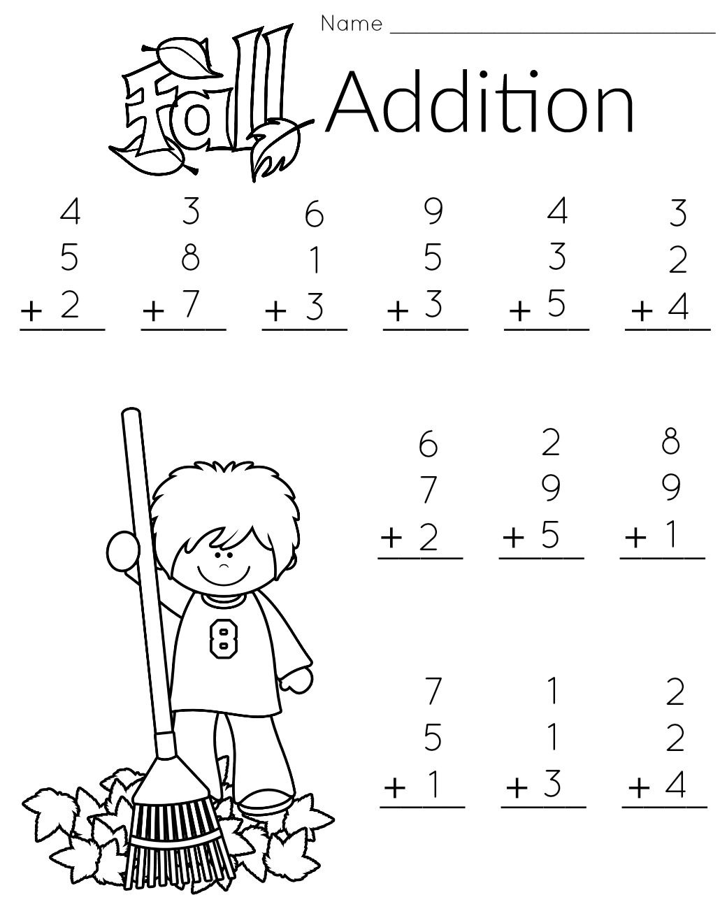 Simplicity image in printable 1st grade math