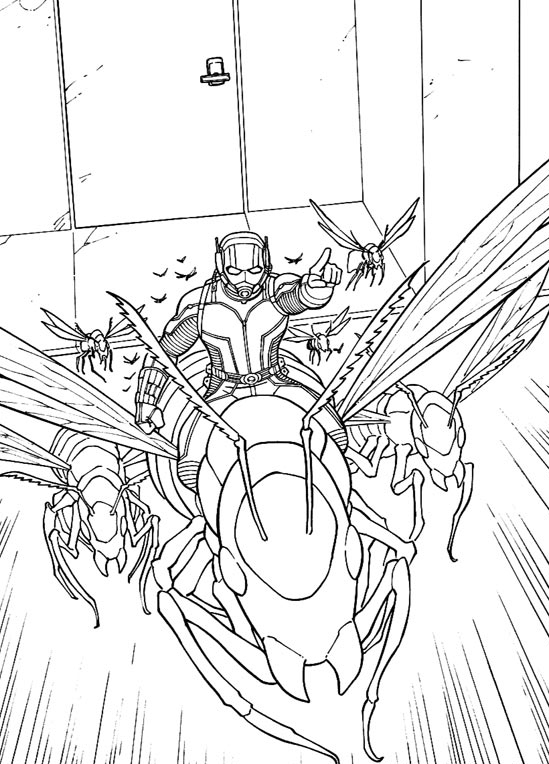Print Ant Man Coloring Pages