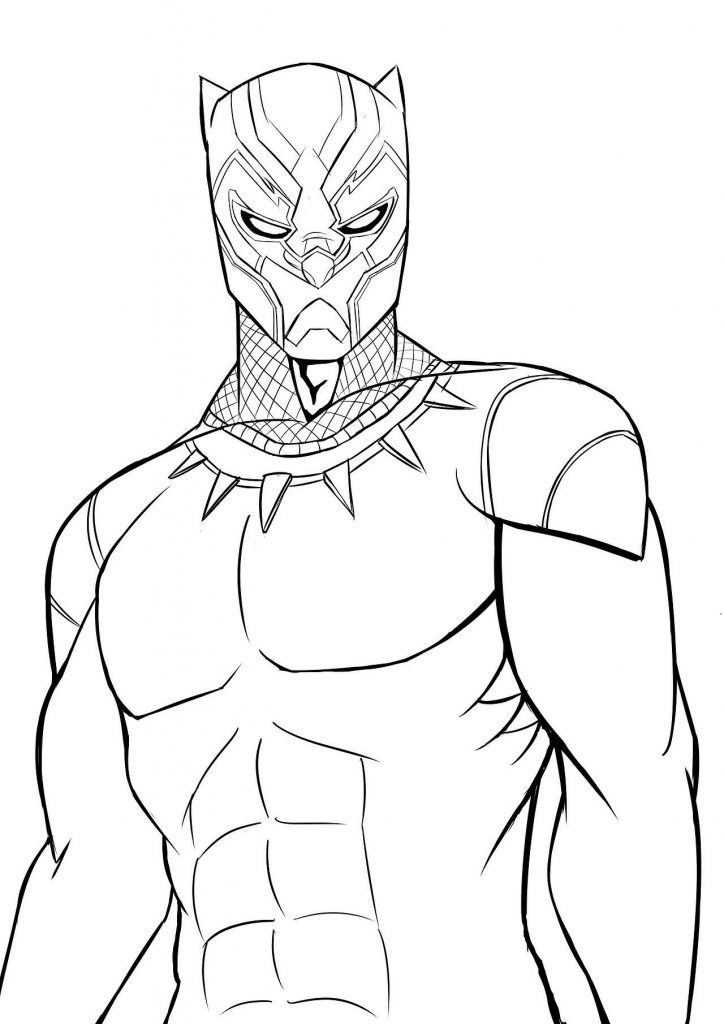 Print Black Panther Coloring Pages