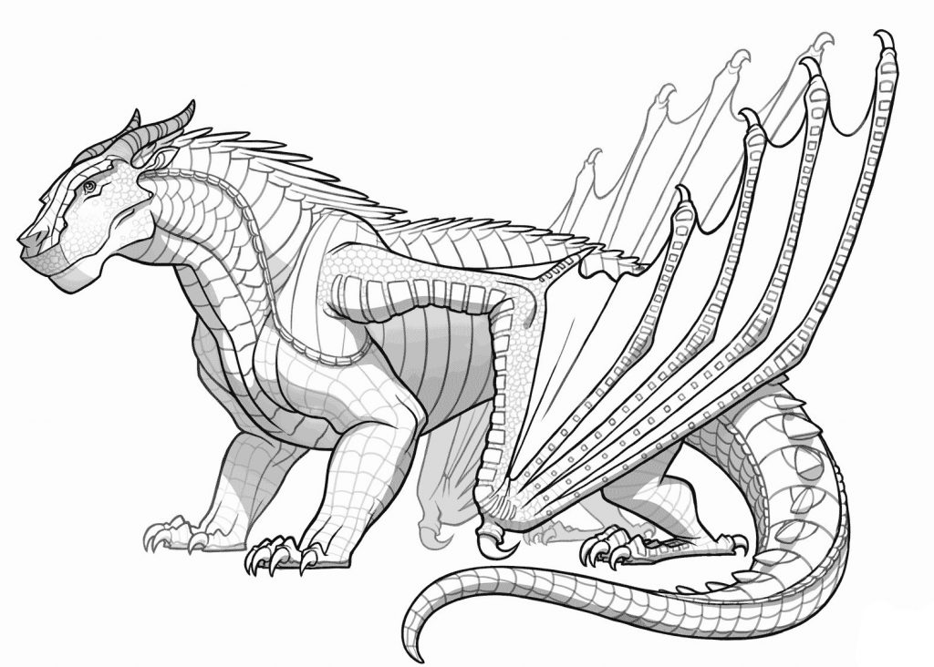 Printable Adult Coloring Page Dragon