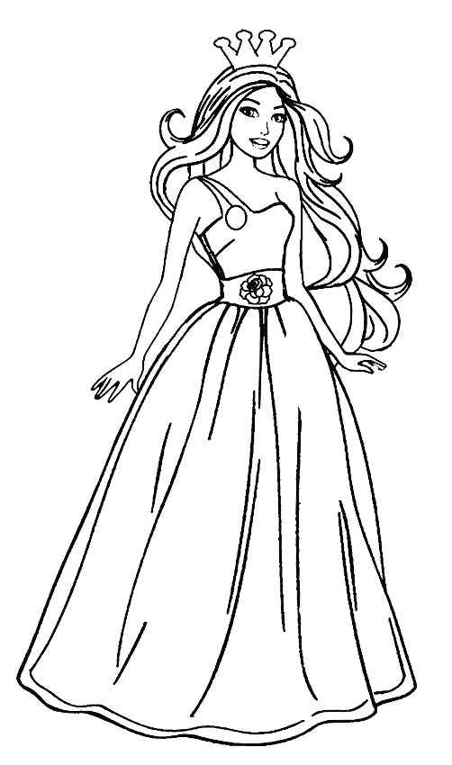 Versatile image throughout barbie coloring pages printable