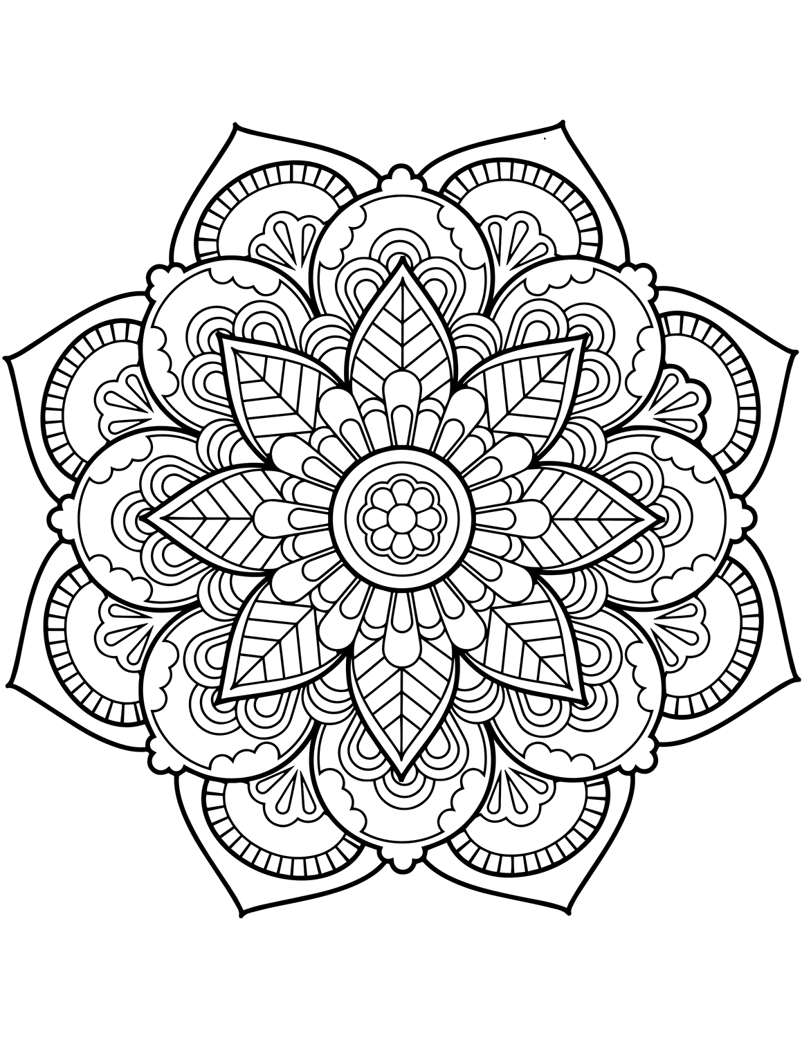 flower mandala coloring pages best coloring pages for kids. Black Bedroom Furniture Sets. Home Design Ideas