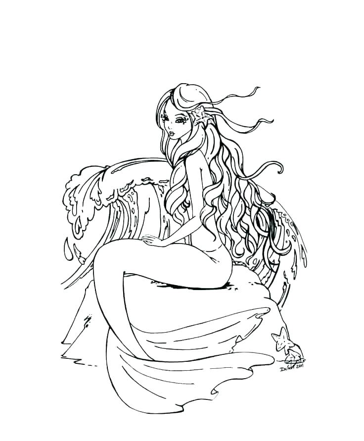 Coloring Pages Mermaid Ideas - Whitesbelfast | 891x736