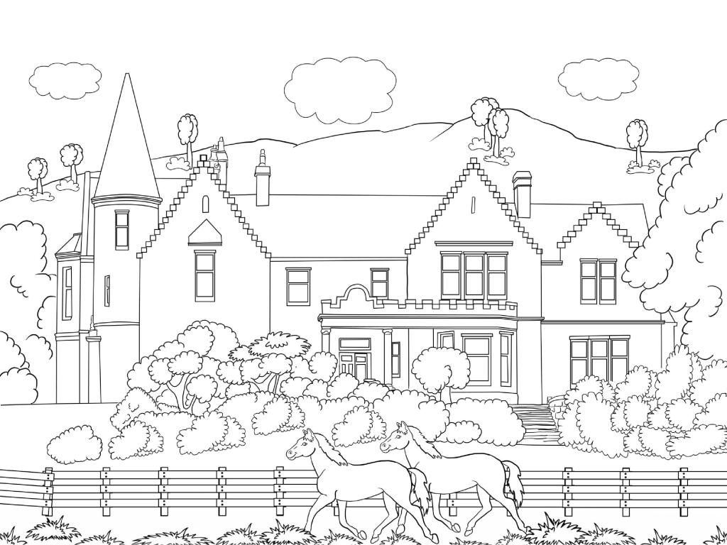 Printable Scenery Coloring Pages for Adults