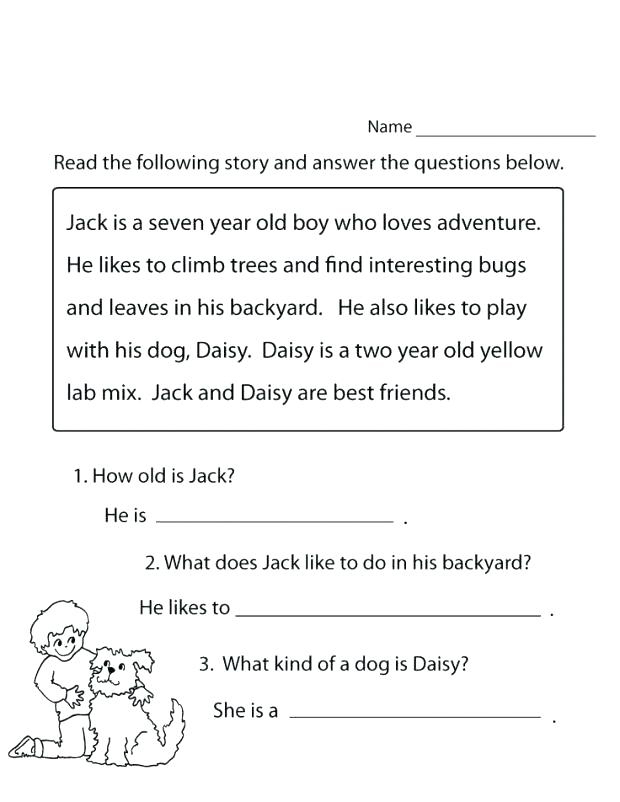 Read and Answer - 1st Grade Worksheet