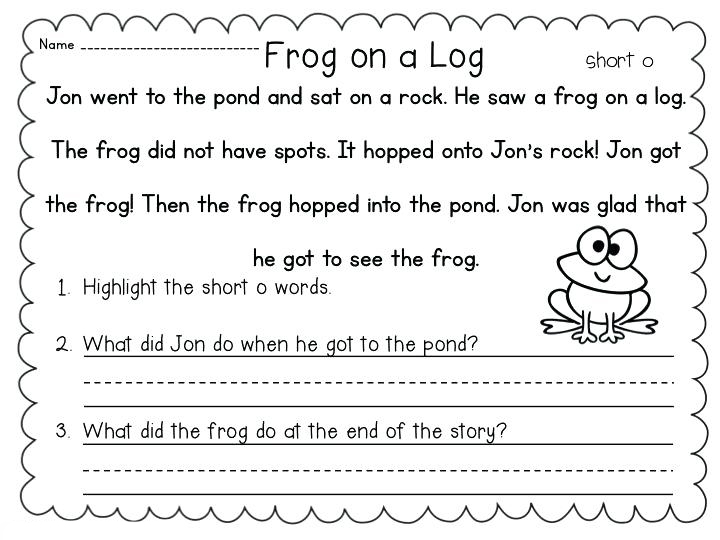Reading and Writing Worksheet - 1st Grade