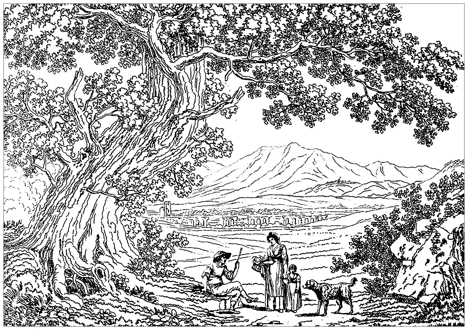 Scenery Coloring Pages for Adults - Best Coloring Pages ...
