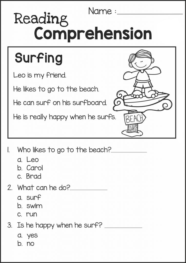It is a picture of Impertinent Printable 2nd Grade Reading Worksheets