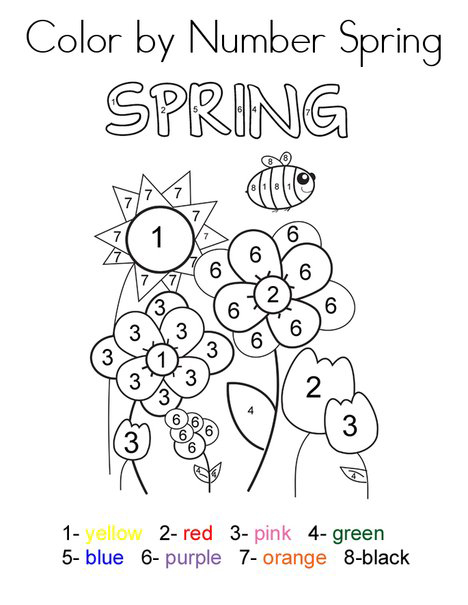 spring coloring pages detailed words - photo#39