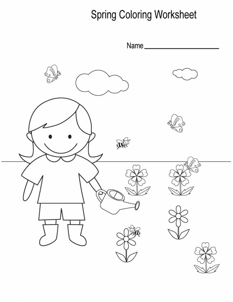 Spring Coloring Worksheet