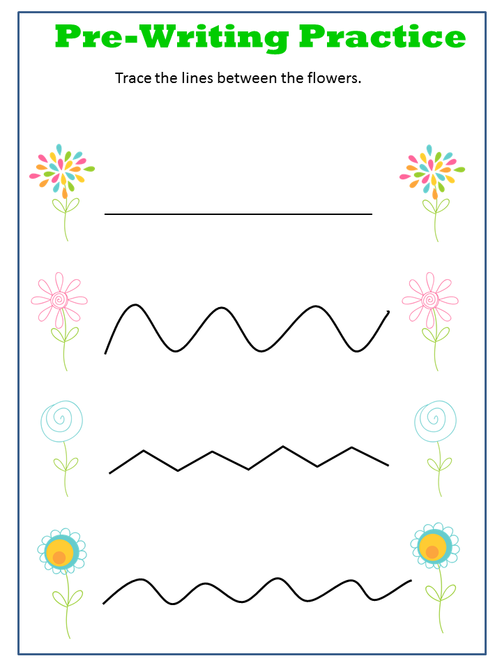 Spring Tracing Worksheet