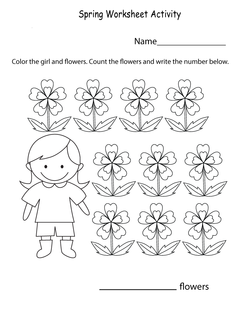 Spring Worksheets Best Coloring Pages For Kids