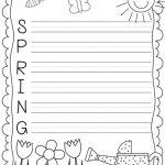 Spring Writing Worksheet