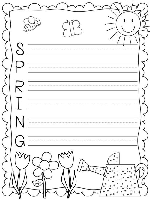 Spring Writing Worksheet