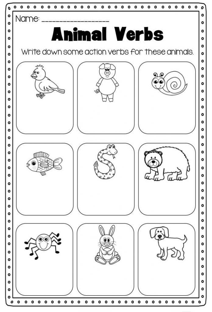Verbs 1st Grade Worksheet