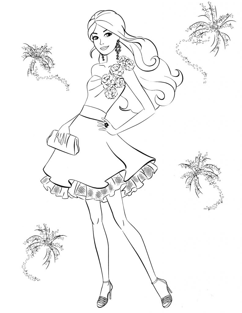 Young Barbie Princess Coloring Pages