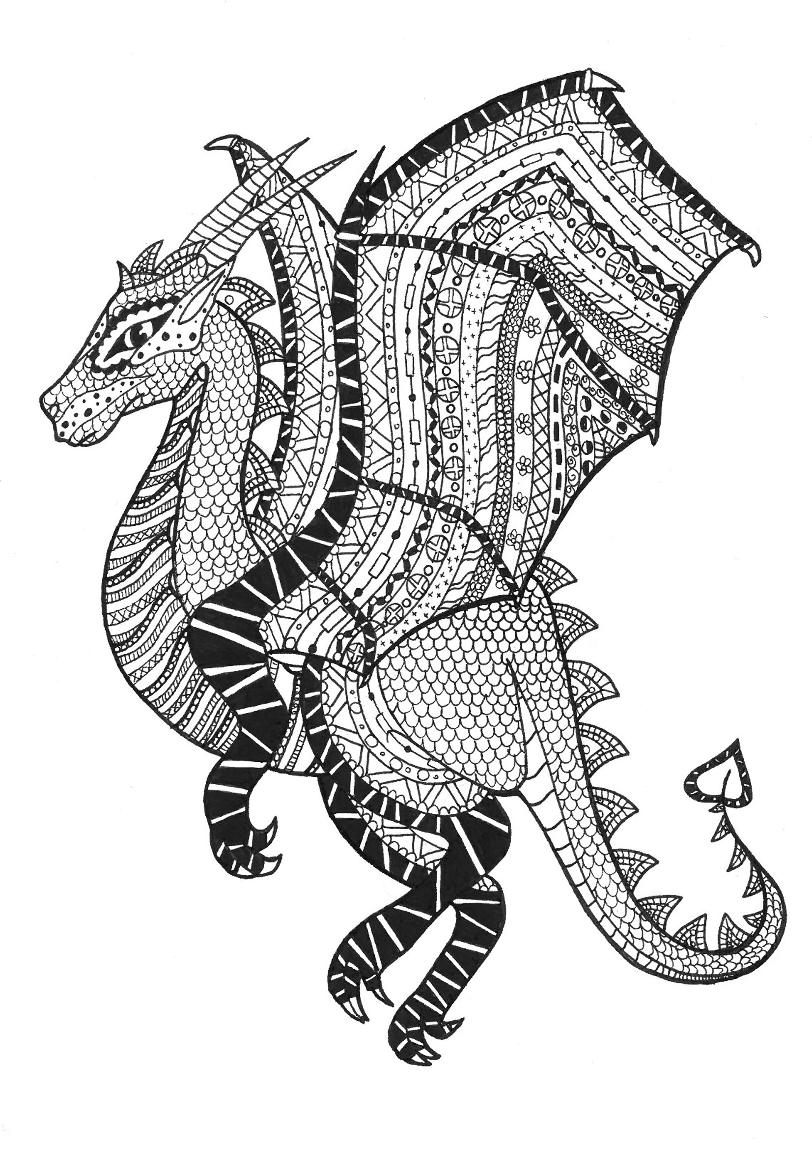 Dragon Coloring Pages for Adults - Best Coloring Pages For ...