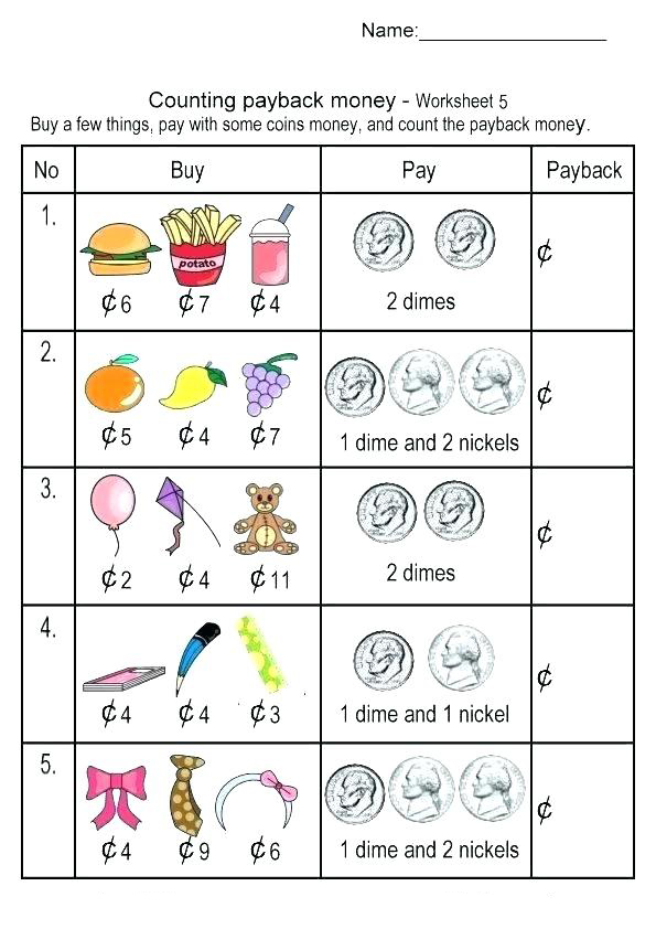2nd Grade Buying with Money Worksheets