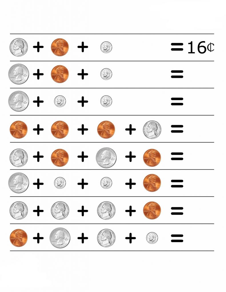 2nd Grade Coins Worksheets