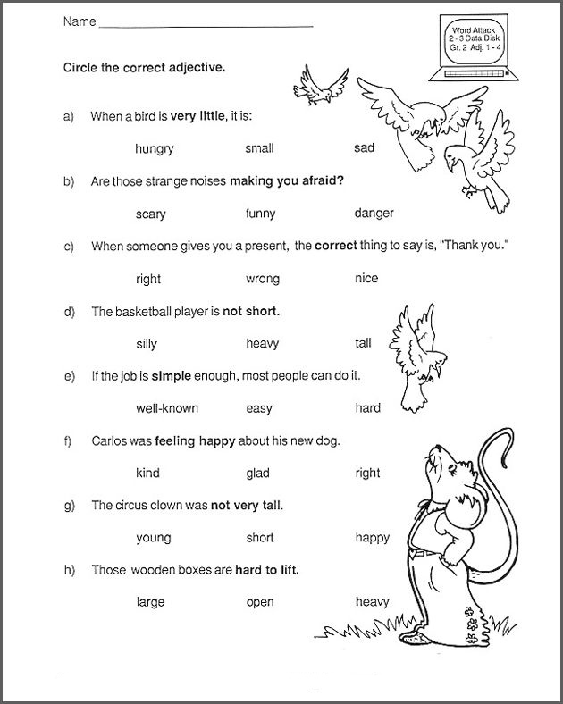 2nd Grade English Worksheets - Best Coloring Pages For Kids