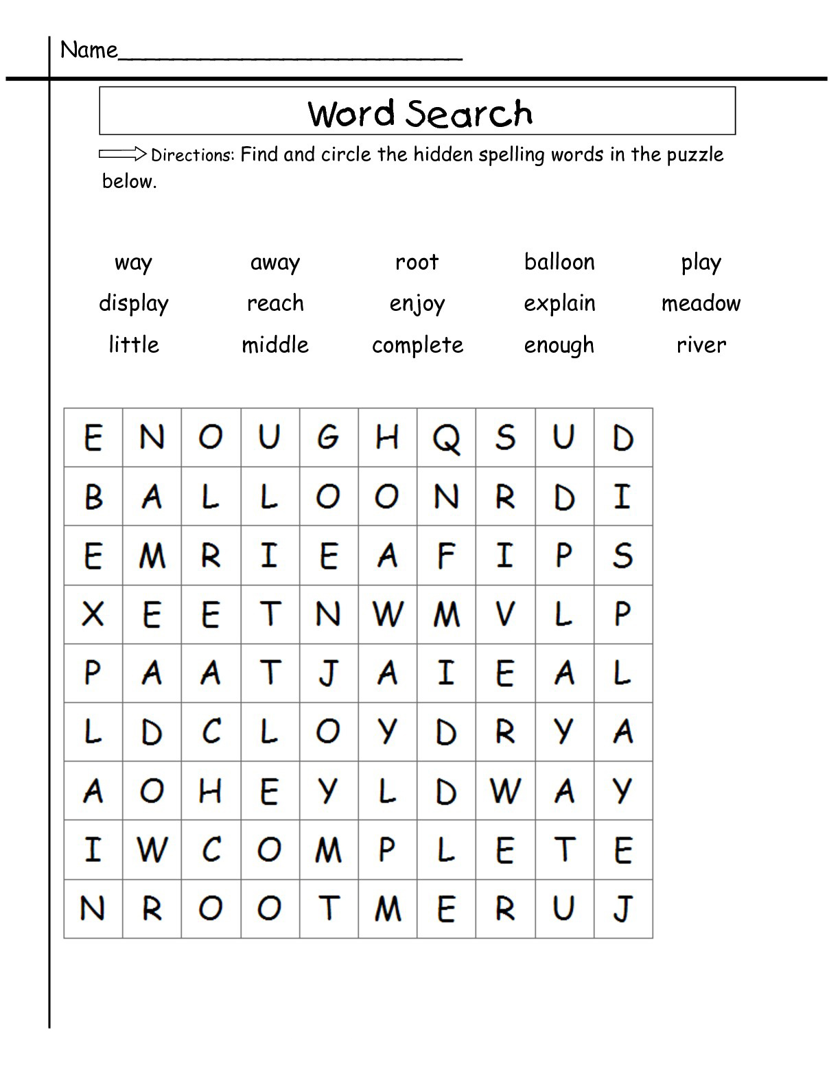 24nd Grade Word Search - Best Coloring Pages For Kids Regarding 2nd Grade Sight Words Worksheet