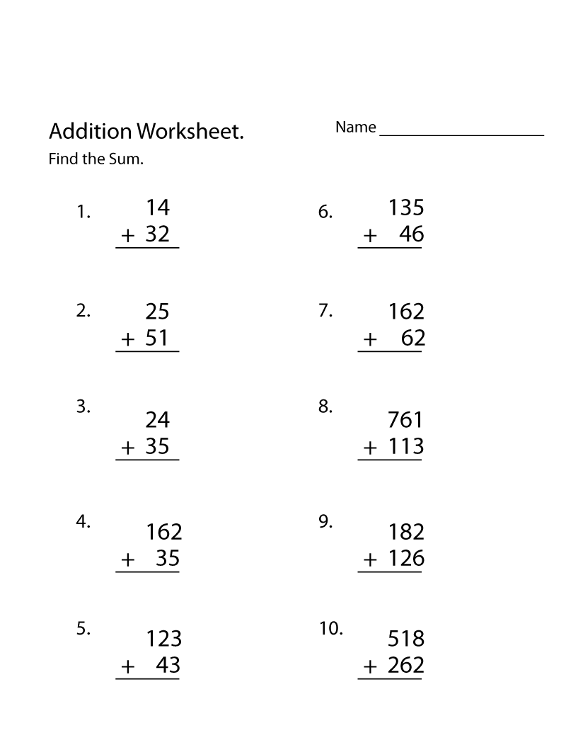 3rd Grade Math Worksheets - Best Coloring Pages For Kids