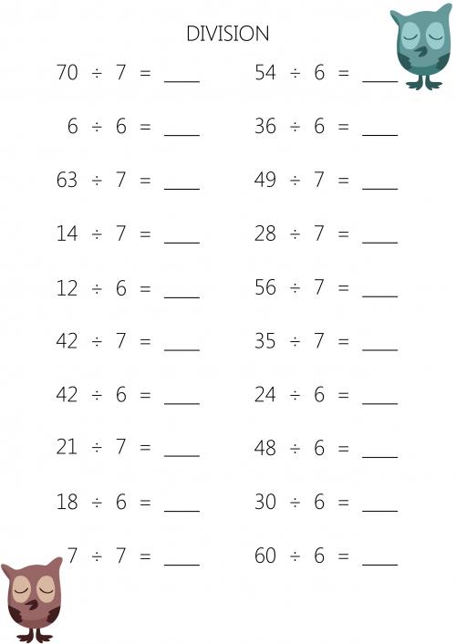 3rd Grade Division Worksheet