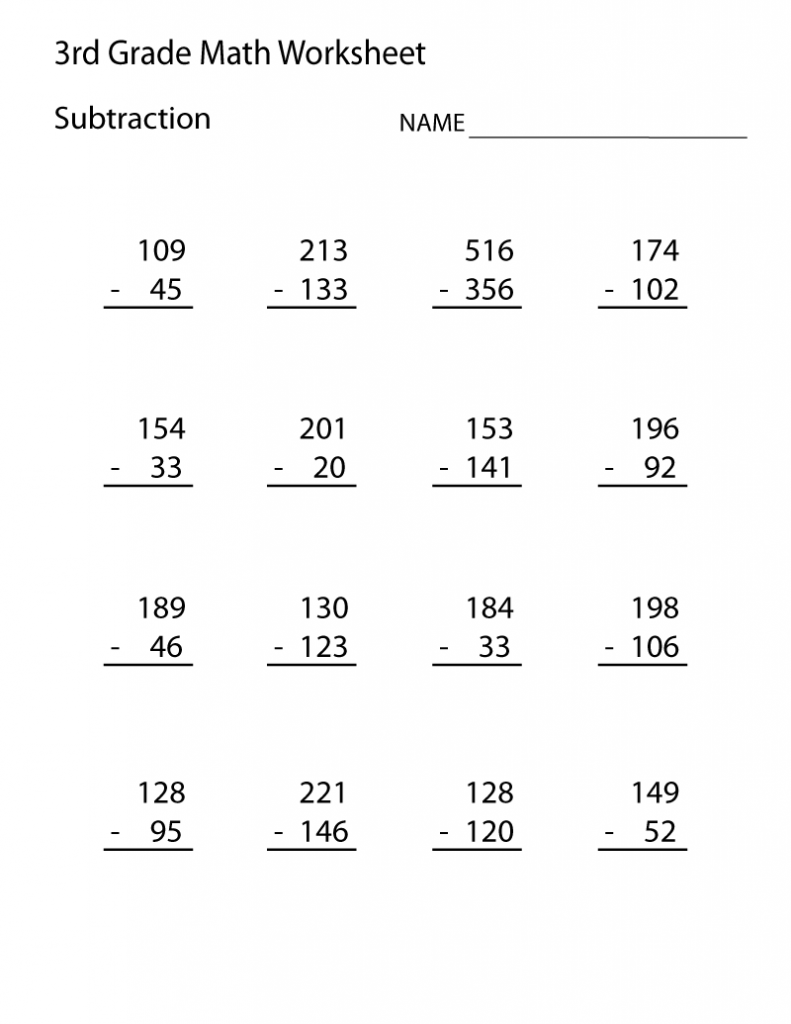 3rd Grade Math Worksheet