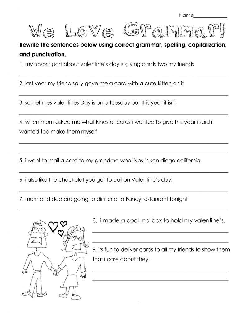 3rd Grade Worksheets - Grammar