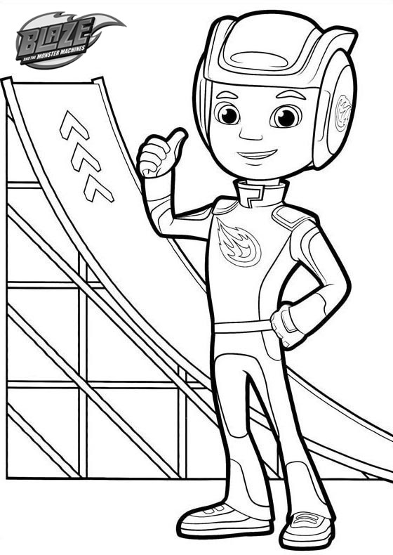 AJ Blaze and the Monster Machines Coloring Pages