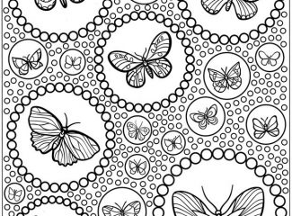 Advanced Butterfly Coloring Pages for Adults