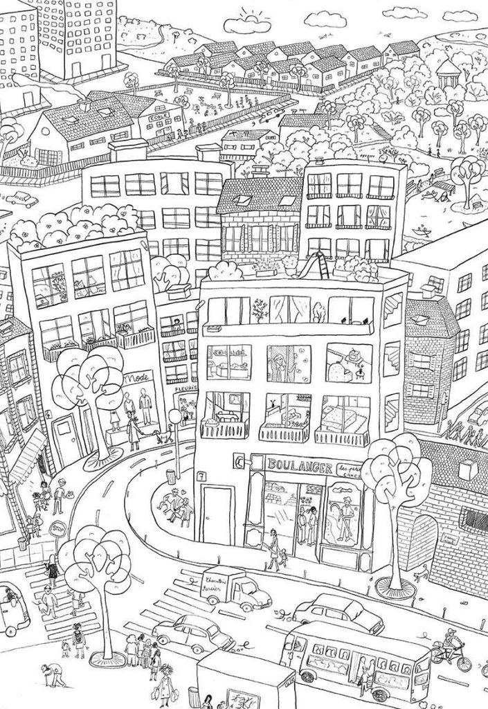 Awesome City Coloring Pages