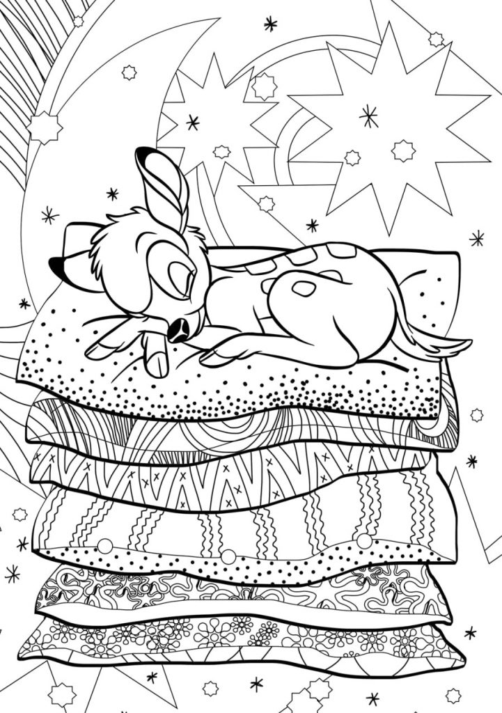 Bambi Disney Coloring Pages for Adults
