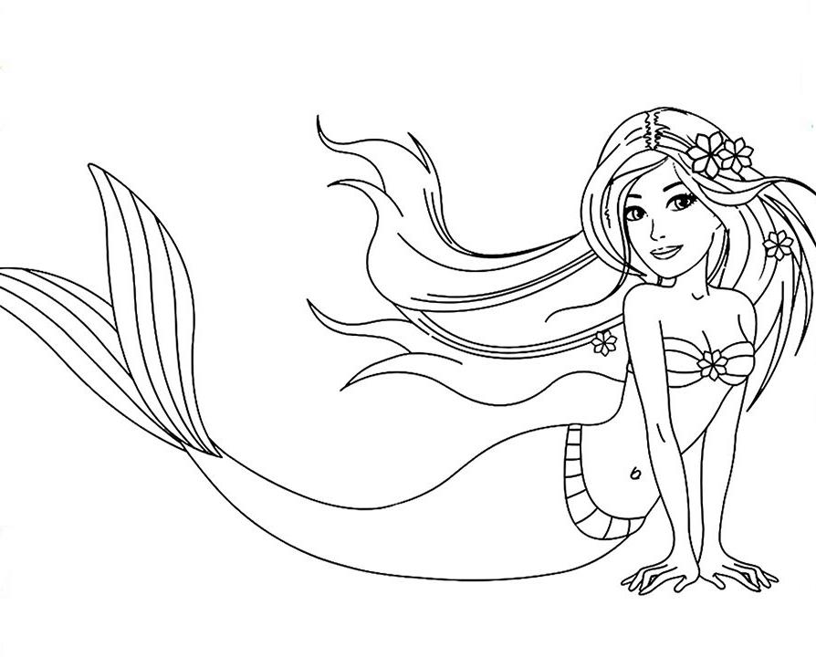 Barbie Mermaid Coloring Page