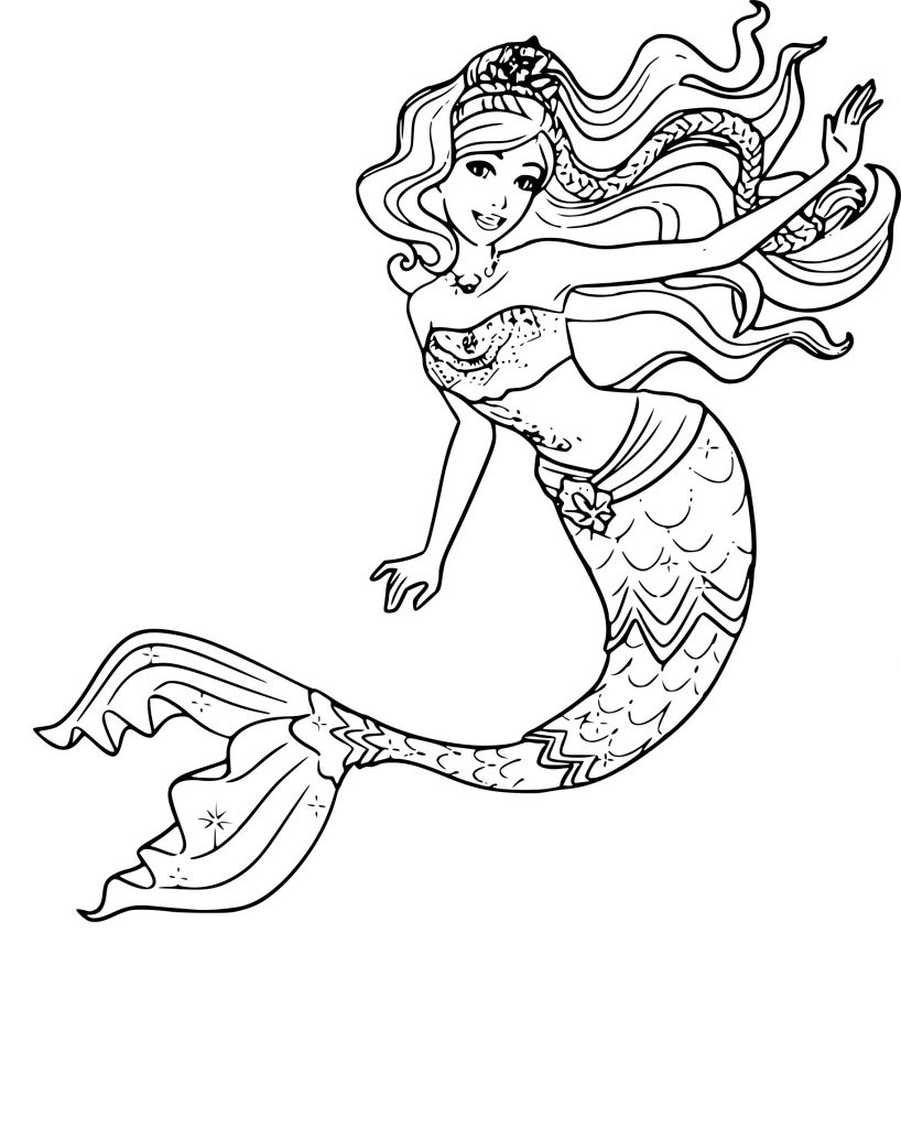 Barbie Mermaid Coloring Pages